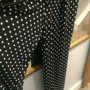 Chico's Pants - Chico's Size 3 Black Polka Dot Jump Suit